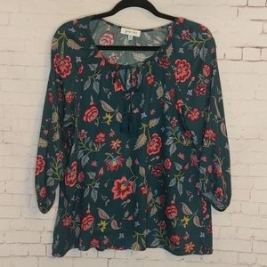 GRACE & LACE 3/4 Sleeved Floral Blouse